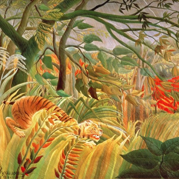 tiger in a tropical storm surprised 1891 oil on canvas
