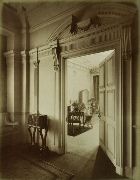 51 LENNOX GARDENS, Chelsea, London. Interior detail of the drawing room doorway. Photographed by Harry Bedford Lemere on the 14th March 1887