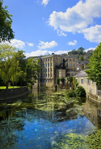 Abbey Mill, Bradford on Avon, Wiltshire. The former woollen mill and rubber factory now contains residential apartments