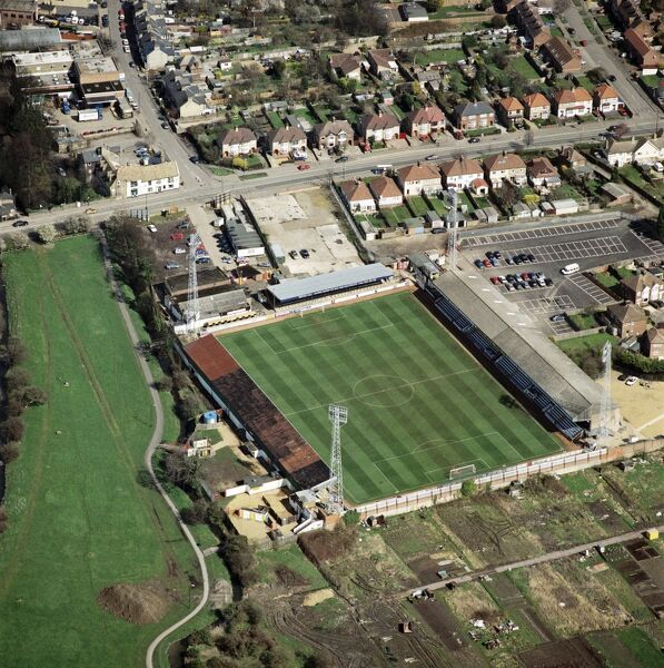 ABBEY STADIUM, Cambridge. Home of Cambridge United Football Club. Photographed in March 2001. Aerofilms Collection (see Links)