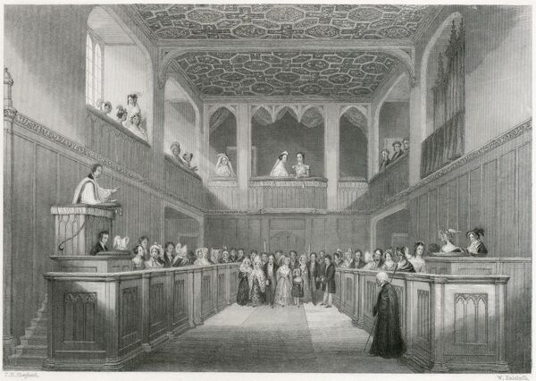 MAYSON BEETON COLLECTION. St James Palace, London 1837. Engraving depicting the accession of Queen Victoria
