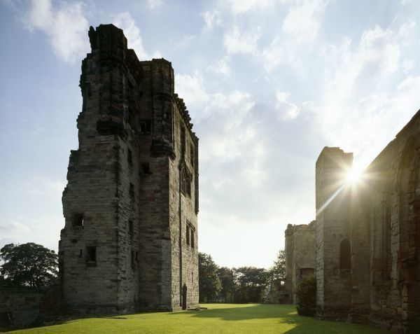 ASHBY DE LA ZOUCH CASTLE, Leicestershire. General view with sunshine