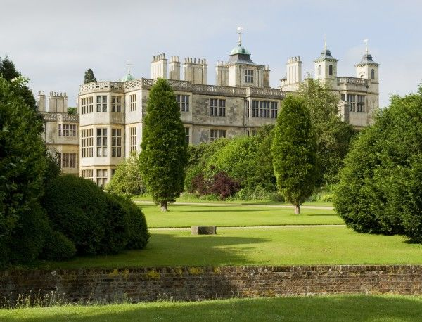 AUDLEY END HOUSE AND GARDENS, Essex. View across the Ha Ha looking towards the Service Wing