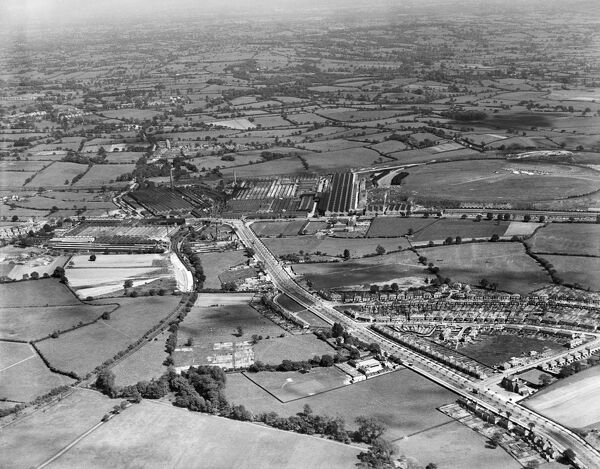 AUSTIN MOTOR PLANT, Longbridge, Birmingham. Aerial view of the car production plant in June 1935. Much of the manufacture at this time would have been the Austin 7. Aerofilms Collection (see Links)