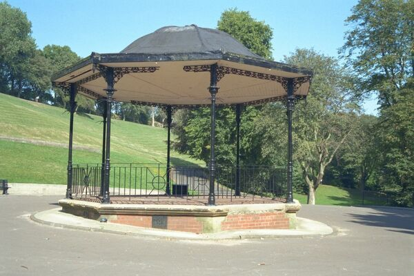Late C19 cast-iron bandstand in Barnes Park, Sunderland, Tyne & Wear. IoE 391389