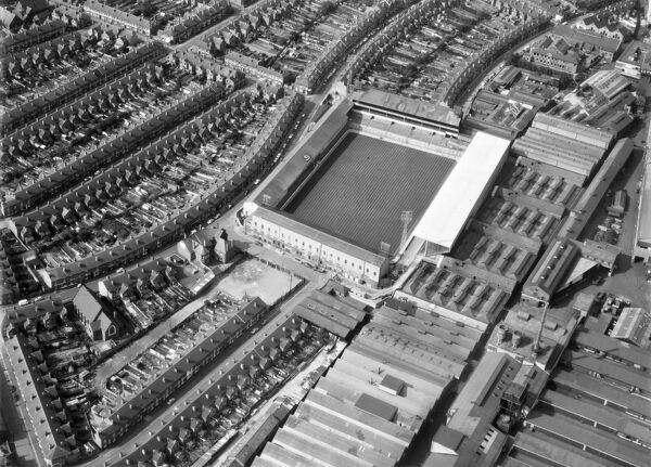BASEBALL GROUND, Derby. Aerial view of the home of Derby County FC between 1894 and 1997. Photographed in 1972. Aerofilms Collection (see Links)