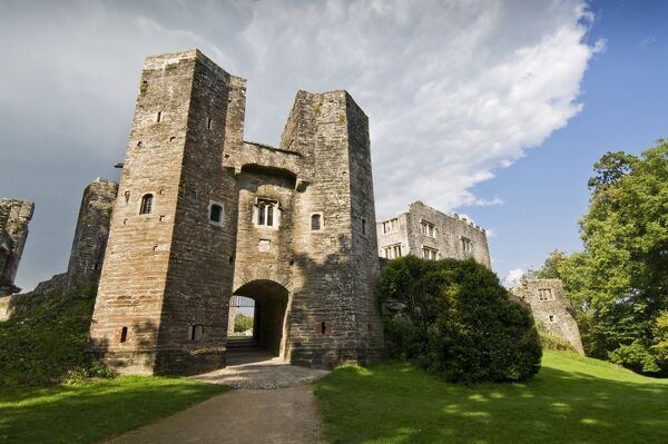 BERRY POMEROY CASTLE, Devon. The Gatehouse from the South