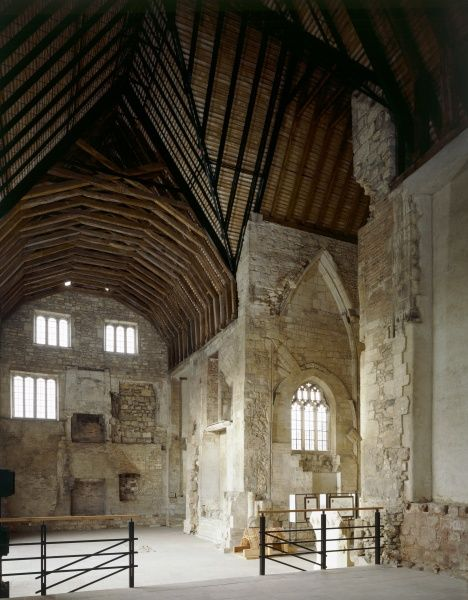 BLACKFRIARS, Gloucester, Gloucestershire. 1997, interior view of church nave and North transept looking West