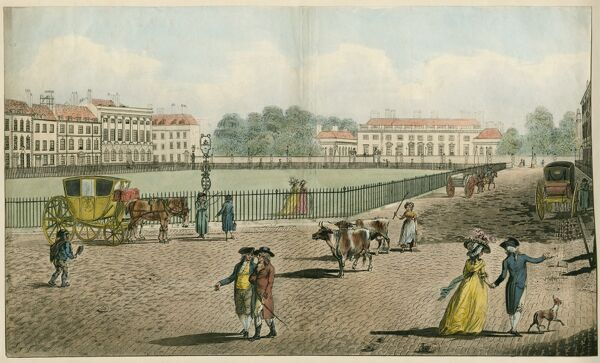 "MAYSON BEETON COLLECTION. ""Bloomsbury Square"" Coloured aquatint engraving, 1787"
