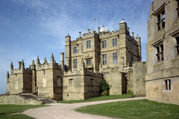 BOLSOVER CASTLE, Derbyshire. View of the Little Castle from the west