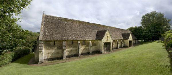 BRADFORD ON AVON TITHE BARN, Wiltshire. Exterior view