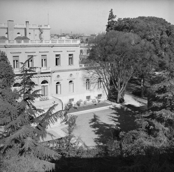 Villa Wolkonsky, Via Ludovico Di Savoia, Rome, Italy. The British Ambassador's residence in Rome, photographed in 1958. Villa Wolkonsky was used for 25 years following destruction of the earlier embassy in 1946