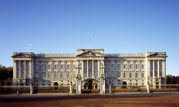 BUCKINGHAM PALACE, City of Westminster, London. Exterior view