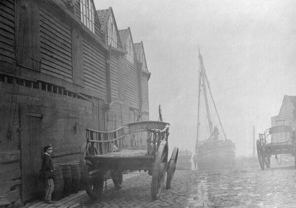 CANNON WHARF, Westminster, London. This was a coal wharf off Cannon Row, downstream from Westminster Bridge