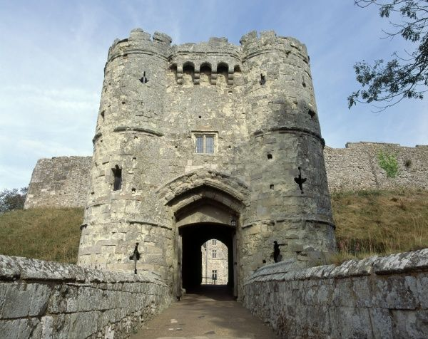 CARISBROOKE CASTLE, Isle of Wight. View of the Gatehouse from the West