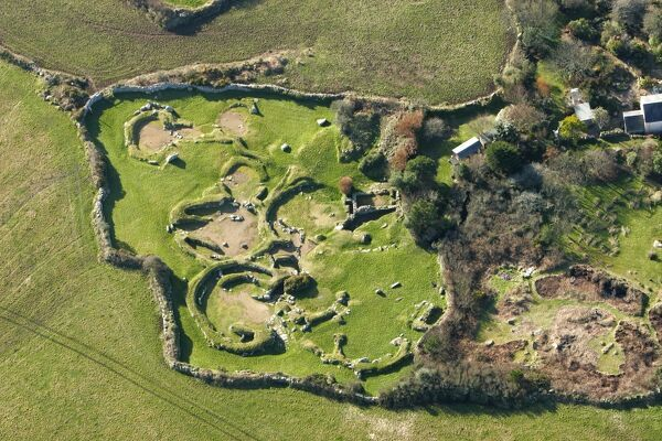 CARN EUNY ANCIENT VILLAGE, Cornwall. Aerial view