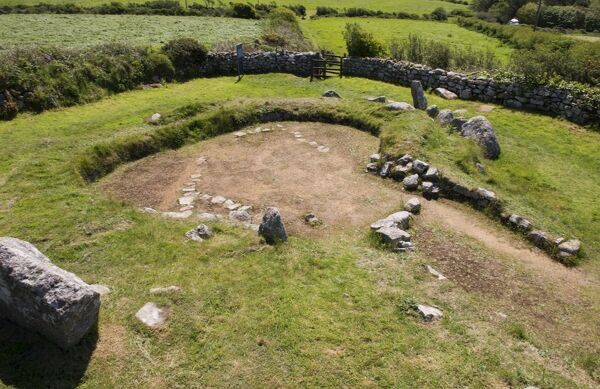 CARN EUNY ANCIENT VILLAGE, Cornwall. General view of house A, viewed from the north west