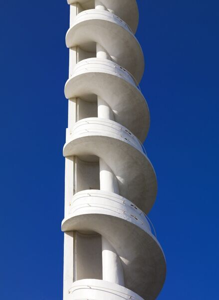 Blackpool, Lancashire. Detail of spiral tower at Casino, South Beach, Blackpool