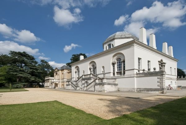 CHISWICK HOUSE, London. General view from the North West