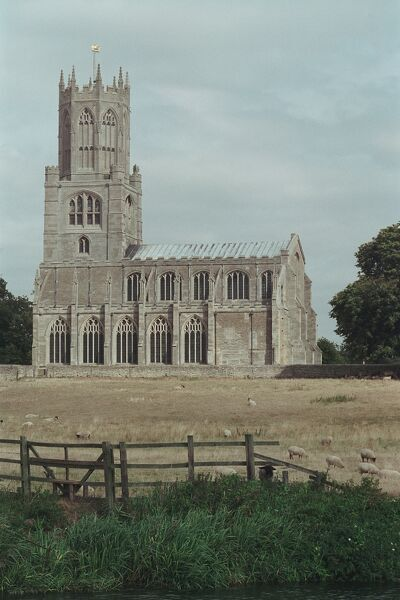 Magnificent grade I listed church at Fotherghay, Northamptonshire. IoE 232628