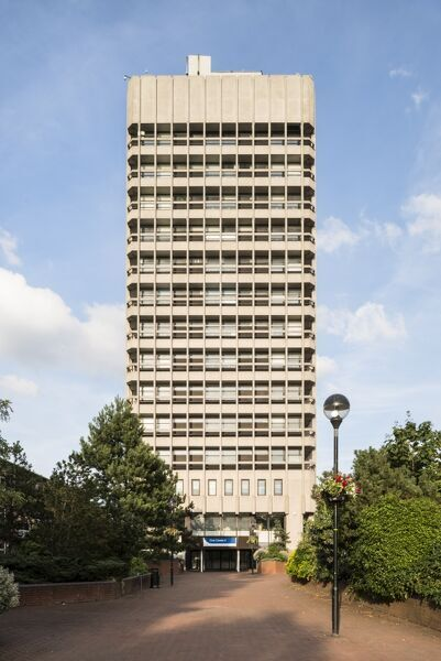 Civic Centre 4, Little Park Street, Coventry, West Midlands. Exterior, view from the west