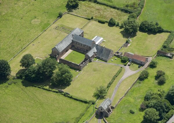 CLEEVE ABBEY, Somerset. Aerial view
