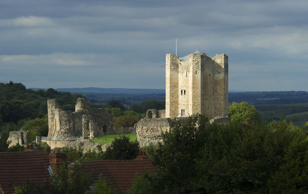 CONISBROUGH CASTLE, South Yorkshire. General view