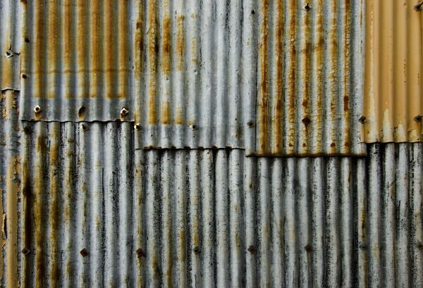 Detail of corrugated iron