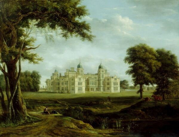 "KENWOOD HOUSE, SUFFOLK COLLECTION, London. ""View of Charlton Park"" c1800 by Hendrik Frans DE CORT (1742-1810)"