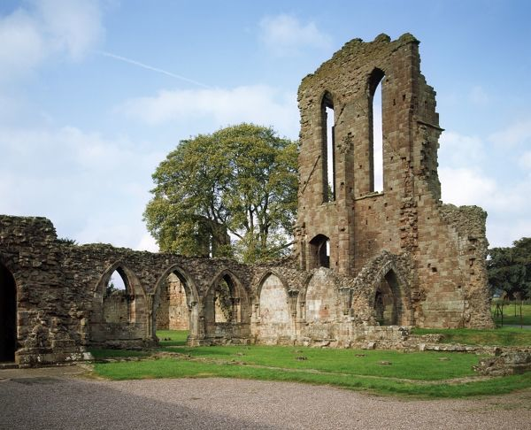 CROXDEN ABBEY, Staffordshire. View of the South transept and the chapter house from the South East