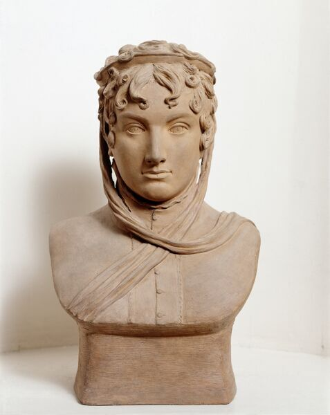 RANGERS HOUSE, London. Terracotta bust of Princess Caroline, 1814 by Anne Seymore DAMER (1749-1828). Later Queen Caroline, consort of King George IV