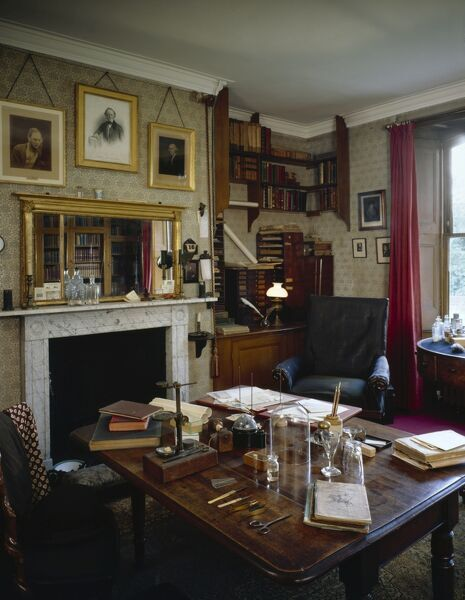 DOWN HOUSE, Downe, Kent. Interior view. The Old Study