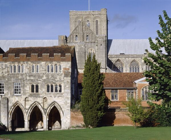 WINCHESTER, Hampshire. The Deanery and Cathedral
