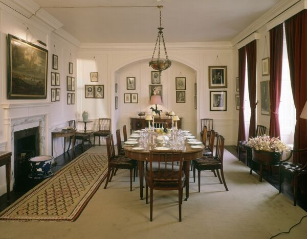 WALMER CASTLE, Kent. Interior view. The Dining Room