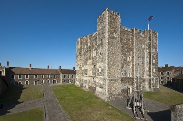 DOVER CASTLE, Kent. Exterior view of the Keep, from the North East