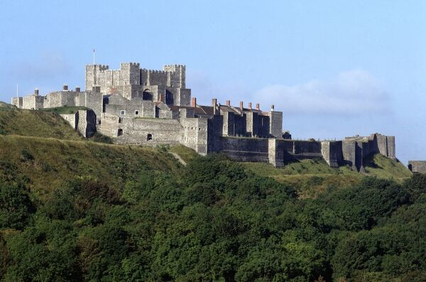 DOVER CASTLE, Kent. View from the East