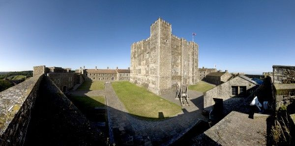 DOVER CASTLE, Kent. Panoramic view of the Keep, from the North East. DP076340