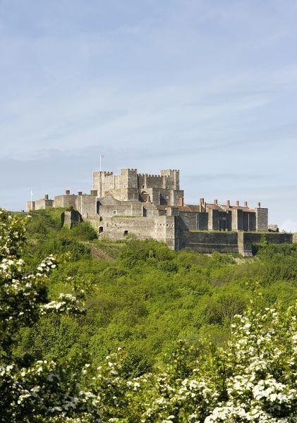 DOVER CASTLE, Kent. General view of the keep and inner bailey from the North