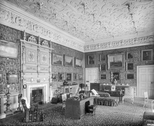 AUDLEY END HOUSE, Essex. Interior view. The Drawing Room. Photographed by Harry Bedford Lemere in 1891