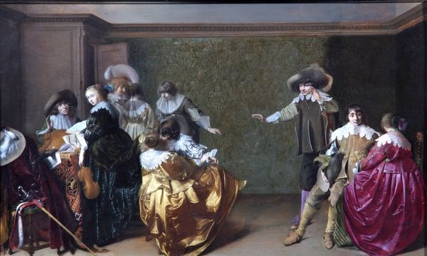 "APSLEY HOUSE, London. ""A Musical Party"" by Willem Cornelisz DUYSTER (c.1599-1635?). WM 1524-1948"