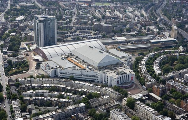EARLS COURT EXHIBITION CENTRE, London. The vast exhibition hall (now known as Earls Court One) was purpose built to create Europe's largest structure by volume