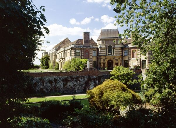 ELTHAM PALACE, London. A view of the house from the rockery