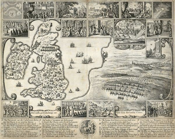 MAYSON BEETON COLLECTION. Historical print showing the events of 1640