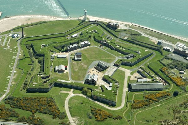FORT CUMBERLAND, Eastney, Portsmouth, Hampshire. Aerial view
