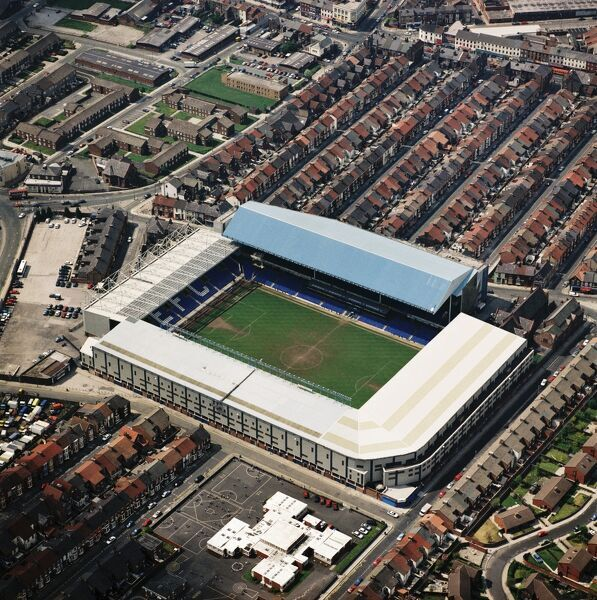 GOODISON PARK, Liverpool. Aerial view of the home of Everton FC since 1892. Photographed in 1996. Aerofilms Collection (see Links)