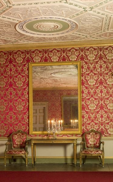 AUDLEY END HOUSE, Essex. Interior view of the Great Drawing Room