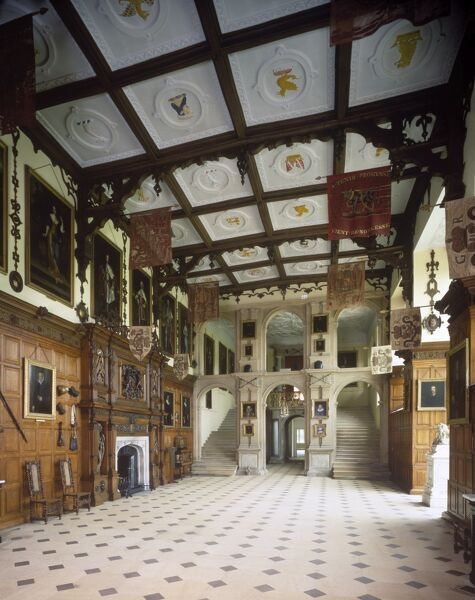 AUDLEY END HOUSE. Interior view. The Great Hall