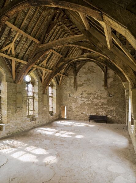 STOKESAY CASTLE, Shropshire. Interior view of the Hall