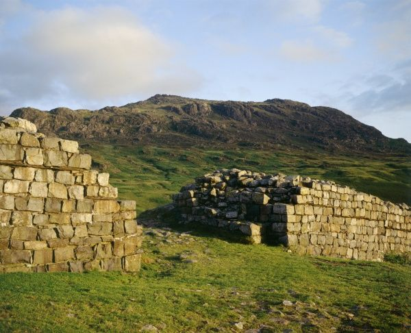HARDKNOTT ROMAN FORT, Cumbria. View of the walls