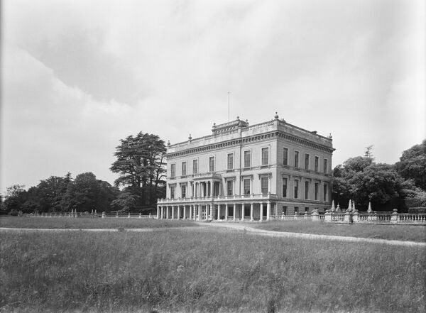 Henham Hall, Henham Park, Suffolk. View of the south front, photographed in 1951 by Herbert Felton. Henham Hall was demolished in 1953